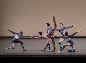 """New York City Ballet dancers in Justin Peck's """"Rodeo: Four Dance Episodes"""" Photo by Paul Kolnik"""