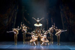 """Eifman Ballet dancer Maria Abashova and members of the company in """"Red Giselle"""" Photo by Evgeny Matveevs"""