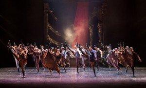 "Eifman Ballet dancers in ""Red Giselle"" Photo by Evgeny Matveev"