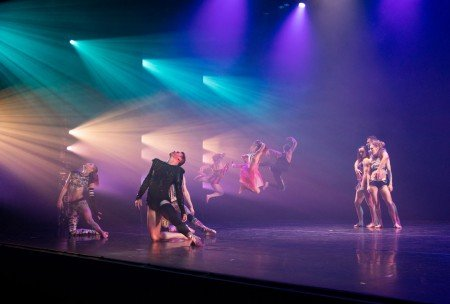 "Members of RIOULT Dance NY in ""Fire in the Sky"" Photo by Nina Wurtzel"