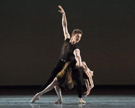 """American Ballet Theatre dancers Sarah Lane and Alban Lendorf in Alexei Ratmansky's """"Souvenir d'un lieu cher"""" Photo by Gene Schiavone"""