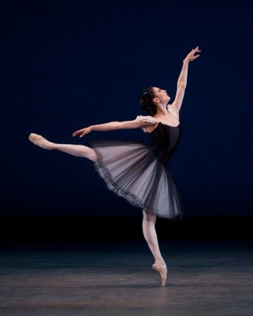 "American Ballet Theatre dancer Veronika Part in George Balanchine's ""Mozartiana"" Photo by Rosalie O'Connor"