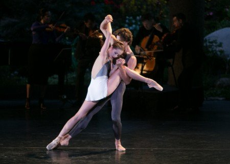 "Unity Phelan, here with Zachary Catazaro in Claudia Schreier's ""Solitaire"" Photo by Erin Baiano"