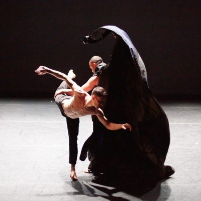 """Project 44 dancers Gildas Lemonnier and Gierre Godley in """"Christopher"""" Photo by Eric Bandiero"""