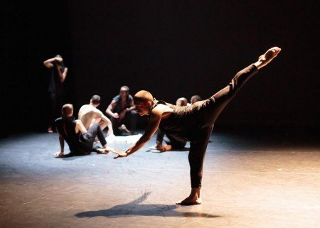 "Project 44 dancers in ""Christopher"" Photo by Eric Bandiero"
