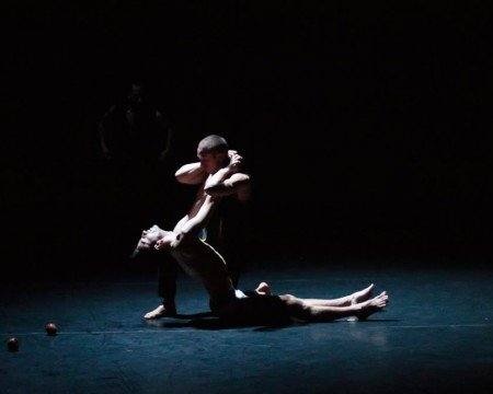 "Project 44 dancers Gildas Lemonnier and Gierre Godley in ""Christopher"" Photo by Eric Bandiero"