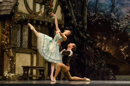 "Luana Georg and Sergei Upkin in ""Giselle"" Photo: Harri Rospu"