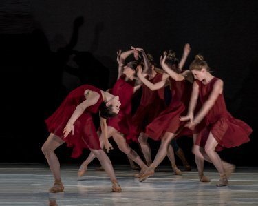 "Stephanie Williams (foreground) and members of Gemma Bond Dance in ""Then and Again"" Photo by-Rod Brayman"
