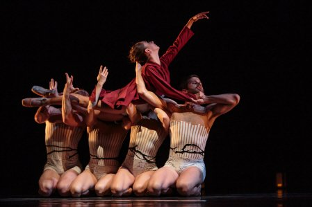 "Shania Rasmussen and Amy Seiwert's Imagery dancers in ""Wandering"" Photo by Chris Hardy"