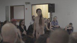 "Bobbi Jene perfoms her solo piece at The Israeli Museum in Jerusalem. From ""Bobbi Jene,"" a film directed by Elvira Lind Image courtesy of Oscilloscope Laboratories"