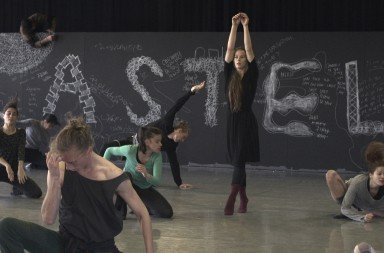 "Bobbi Jene rehearsing with  Batsheva Dance Company in Tel Aviv.   From ""Bobbi Jene,""  a film directed by Elvira Lind Image courtesy of  Oscilloscope Laboratories"