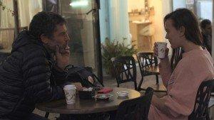 "Bobbi Jene talking with mentor and artistic director of Batsheva Dance Company, Ohad Naharin. From ""Bobbi Jene,"" a film directed by Elvira Lind Image courtesy of Oscilloscope Laboratories"