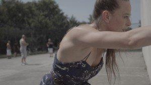 "Bobbi Jene develops her new performance in the streets of New York. From ""Bobbi Jene,"" a film directed by Elvira Lind Image courtesy of Oscilloscope Laboratories"