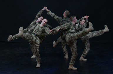 Rosie Kay Dance Company in 5 Soldiers - The Body is the Frontline Photo: Brian Slater