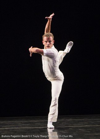 "Reed Tankersley of Twyla Tharp Dance, here in ""Variations on a Theme by Paganini"" Photo by Yi-Chun Wu"