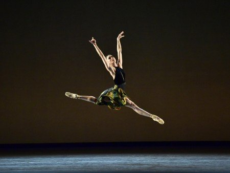 "American Ballet Theatre dancer Stella Abrera in Alexei Ratmansky's ""Souvenir d'un lieu cher"" Photo by Gene Schiavone"