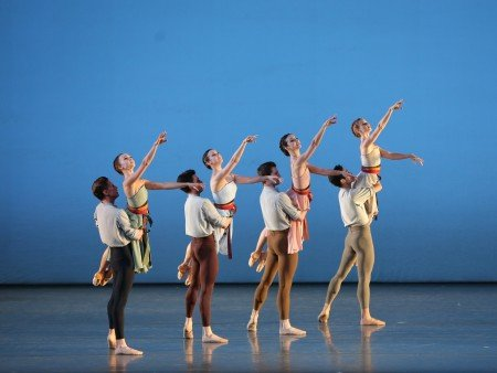 "American Ballet Theatre dancers in Alexei Ratmansky's ""Songs of Bukovina"" Photo by Marty Sohl"
