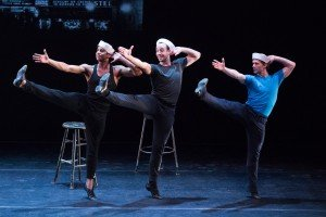 Amar Ramasar, Tyler Angle, and Daniel Ulbricht in Fancy Free, Photo by Teresa Wood