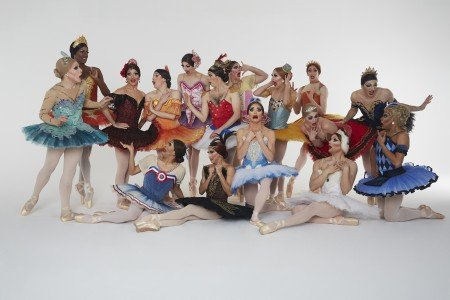"Les Ballets Trockadero de Monte Carlo ballerinas in Marius Petipa's ""Paquita"" studio photo Photo courtesy of New York City Center"