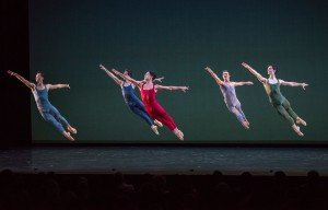 "San Francisco Ballet dancers in Helgi Tomasson's ""Concerto Grosso"" Photo by Stephanie Berger"