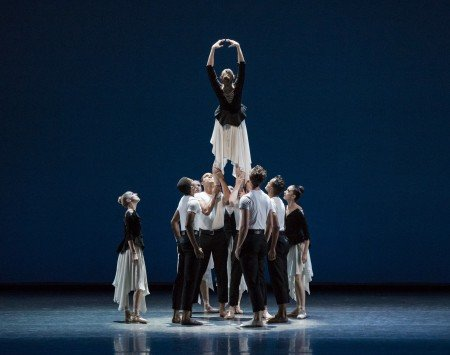 "New York City Ballet dancers in Lauren Lovette's ""Not Our Fate"" Photo by Paul Kolnik"