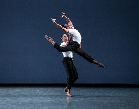 "New York City Ballet dancers (l-r) Preston Chamblee and Taylor Stanley in Lauren Lovette's ""Not Our Fate"" Photo by Paul Kolnik"