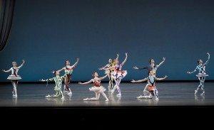 "Member of New York City Ballet in a prior performance of Justin Peck's ""Pulcinella Variations"" Photo by Paul Kolnik"