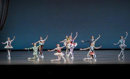 "New York City Ballet dancers in Justin Peck's ""Pulcinella Variations"" Photo by Paul Kolnik"