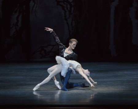 "New York City Ballet dancers Tiler Peck and Chase Finlay in Peter Martins's ""Swan Lake Photo by Paul Kolnik"