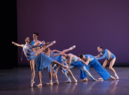 "New York City Ballet dancers in Troy Schumacher's ""The Wind Still Brings"" Photo by Paul Kolnik"