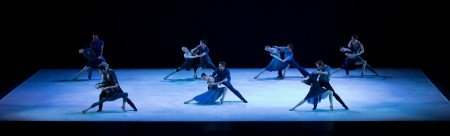 "Oregon Ballet Theatre in Nicolo Fonte's ""Rhapsody in Blue"" Photo by Emily Nash"