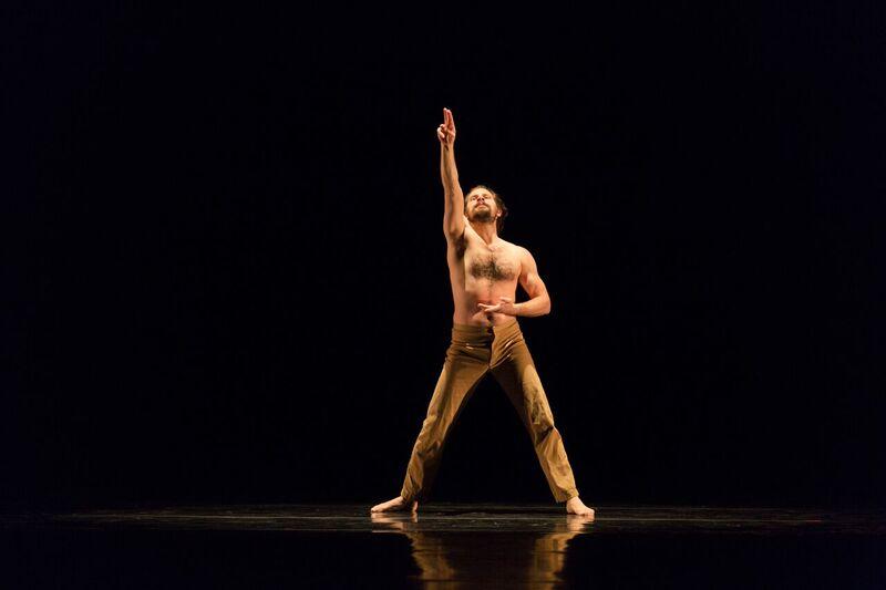 "Chamber Dance Company dancer  Brandin Steffenson in  Helen Tamiris's ""Go Down Moses"" Photo by Warren Woo"