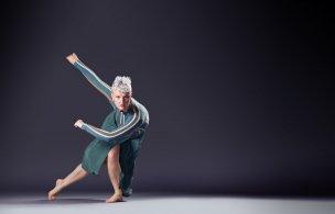 "Chamber Dance Company dancer Alethea Alexander in Jane Dudley's ""Harmonica Breakdown"" Photo by Steve Korn"