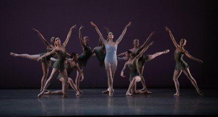 "Ashley Ellis and Boston Ballet in Jorma Elo's ""Fifth Symphony of Jean Sibelius"" Photo by Rosalie O'Connor courtesy Boston Ballet"