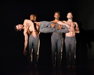 """Cameron Burke, Kendrick D. Carter, Travante Baker, and Ryan Jackson in Chase Brock's """"Men I've Known"""" Photo by Kyle Froman Photography"""