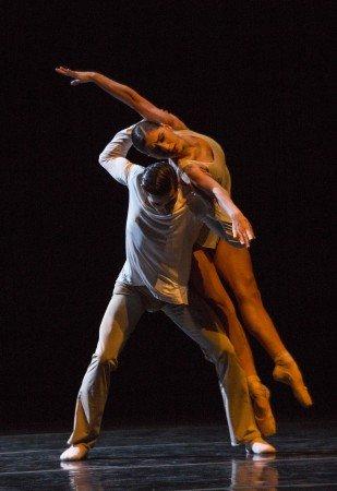 "Dresden Semperoper Ballett dancers Julian Amir Lacey and Alice Mariani in David Dawson's ""On the Nature of Daylight"" Photo by Yi-Chun Wu"