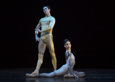 "Pennsylvania Ballet Principal Dancers Dayesi Torriente and Sterling Baca in Matthew Neenan's world premiere of ""It goes that way"" Photo: Erin Baiano"