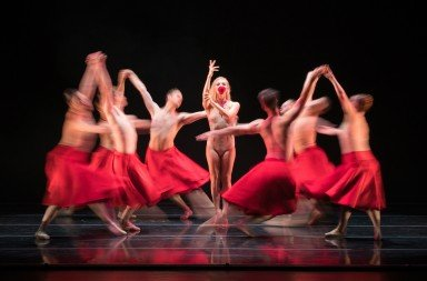 Erica Felsch and the Smuin company in Annabelle Lopez Ochoa's Requiem for a Rose Photo Keith Sutter