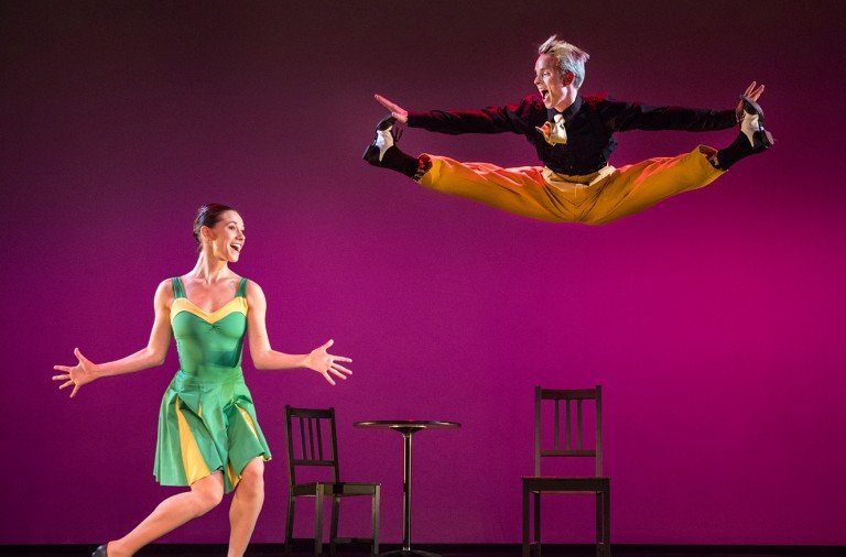 Jackie McConnell and Christian Squires in  Kelly's A Swingin' Holiday Photo Bilha Sperling