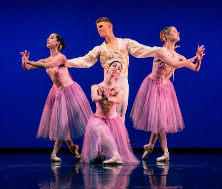 Rosselyn Ramirez, Amanda Farris, Raymond Tilton and Larissa Kogut in Balanchine's Valse Fantaisie Photo Bilha Sperling