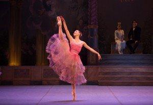 "Lauren Herfindahl in the ""Waltz of the Flowers"" in Mikko Nissinen's ""The Nutcracker"" Photo by Rosalie O'Connor courtesy of Boston Ballet"