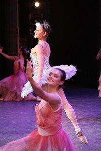 """Lauren Herfindahl (midstage center, as Dew Drop) and Gabriela Schiefer in Mikko Nissinen's """"The Nutcracker"""" Photo by Sabi Varga courtesy of Boston Ballet"""