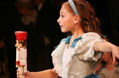"Lauren Herfindahl (as Clara) in Mikko Nissinen's ""The Nutcracker""    Photo by Sabi Varga  Courtesy of Lauren Herfindahl"