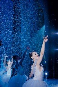 "Lauren Herfindahl (right, as a snowflake) in Mikko Nissinen's ""The Nutcracker"" Photo by Liza Voll courtesy of Boston Ballet"