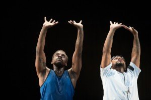 (L to R) Maleek Washington and Timothy Edwards of Camille A Brown & Dancers in ink, photo by Christopher Duggan