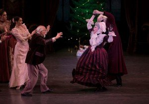 "David Threefoot, Linda Besantin, and members of the company in Oregon Ballet Theatre's production of ""George Balanchine's 'The Nutcracker'"" Photo by Emily Nash"