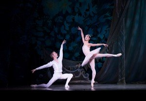 "Chauncey Parsons and Xuan Chang in Oregon Ballet Theatre's production of ""George Balanchine's 'The Nutcracker'"" Photo by James McGrew"