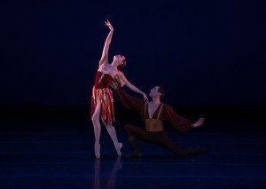 Natalia Magnicaballi and Michael Cook in Tzigane, Choreography by George Balanchine, Photo by Rosalie O'Connor