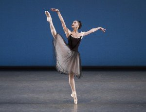 "Maria Kowroski  in George Balanchine's ""Mozartiana""    Photo by Paul Kolnik"