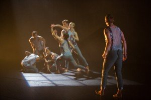 """Whim W'Him dancers in Gabrielle Lamb's """"Joinery"""" Photo courtesy of Whim W'Him"""